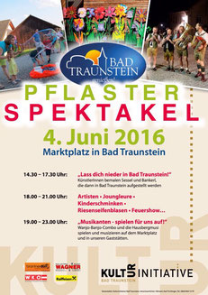 Pflasterspektakel in Bad Traunstein Plakat