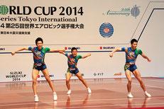 シニアトリオの(左から)金井・斉藤・池田