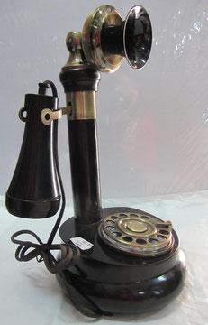 Teléfono baquelita trompetilla