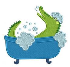 Krokodil in der Badewanne