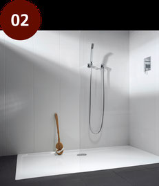 Duschbadewanne Easy-in. Barrierearme Bade- und Duschwanne