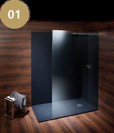 Dusche aus Jura Mineralguss