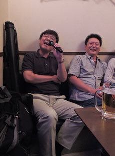 森陽一郎プロ(左)&小林英明プロ