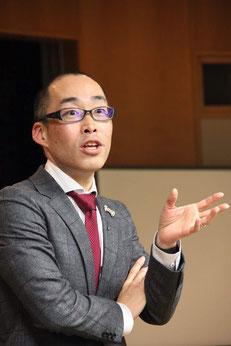 全国商工会・商工会議所のセミナーを担当する渋谷雄大