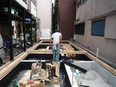 台東区 木造3階建て耐火建築物 土台引き画像4