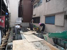 台東区 木造3階建て耐火建築物 基礎工事画像8