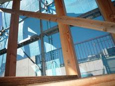 無垢の木でつくる 台東区 木造3階建て耐火建築物 雲筋違い画像1