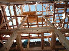 無垢の木でつくる 台東区 木造3階建て耐火建築物 上棟画像4