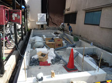 台東区木造3階建て耐火建築物 屋外給排水工事画像2