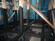 無垢の木でつくる 台東区 木造3階建て耐火建築物 墨塗り2