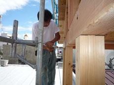 無垢の木でつくる 台東区 木造3階建て耐火建築物 構造用金物画像1