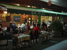 Alquiler de vacaciones en Tossa de Mar, vista de noche del restaurante Da Nino en Tossa de Mar