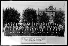 Alle Sänger im 75sten Jahr des Vereinsbestehens