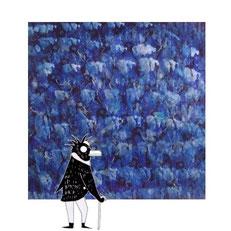 quadro pinguini dal titolo nuvole