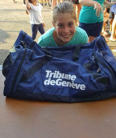 """La gagnante du gros lot """"sac TdG"""". Photo publié avec l'aimable autorisation des parents."""