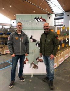 Züchterfreunde Hans - Jürgen Achleitner ( E77)  und Falko Werner (Vorsitzender /Mecklenburger Schecken - Club Hannover)