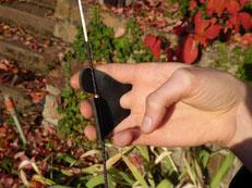 Tab als Sehenenschutz bei den Bogenschützen in Esslingen
