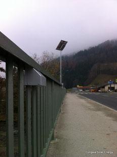 Brücken-Gehwegbeleuchtung mit Solar