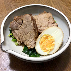 豚モモ肉の煮豚