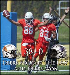 Deers (38) - (0) Eagles