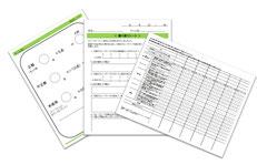 グループワークの採点、振り返り、評価に使用するシートの写真