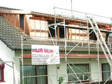 Flaschnerarbeiten: Blechverleidung einer Dachgaube