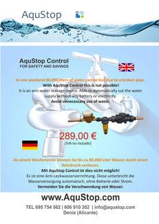 AquStop Control - English Deutsch