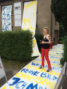 Alina Atlantis, Action, Dirk Palder, tOG, Düsseldorf, take OFF GALLERY, GIPFELSTÜRMER, KUNST, Malerei, moderne Kunst, abstrakte Kunst