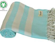 toalla de playa ligera algodón organico certificado GOTS www.invertirenfamilia.com