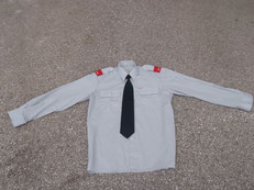Diensthemd grau + Krawatte