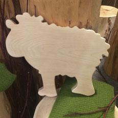 Brotzeitbrettchen in Schafsform