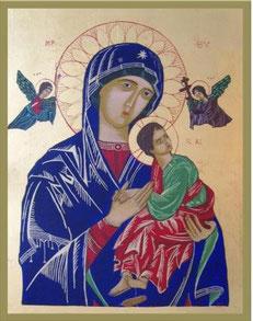 Muttergottes der immerwährenden Hilfe, 48,5 x 38,5 cm, 2011