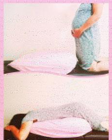妊娠中でもうつ伏せになれるクッション