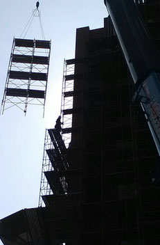 鹿児島仮設 足場工事 建築