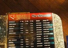 menu weed coffeeshop otherside amsterdam