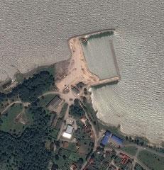 Kärdla; altes Bild, Hafen ist fertig