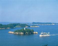 七ヶ浜町 多聞山から見た松島