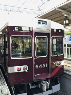 阪急6300系 嵐山駅で撮影