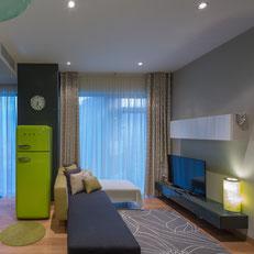 Progetto di Interni e arredamento di un appartamento a Mosca realizzato dallo studio Casettastudio di Verona