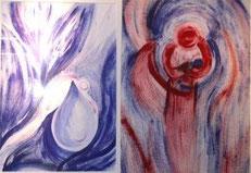 Der Betrachter ist gefordert, die Bilder selber fertig zu denken, sich seinen Engel selber zu malen.