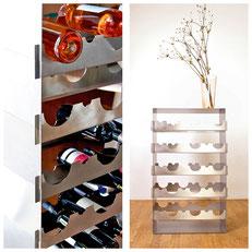 Das Design Weinregal Grand Cru, hochwertige Fertigung aus Edelstahl