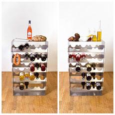 Auch im Gastro- oder Barbereich liefert das Design Weinregal Grand Cru eine nützliche zusätzliche Ablagefläche