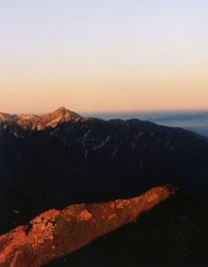 黎明の剣岳