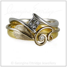 Shaped Wedding Bands to fit with unusual shaped engagement rings