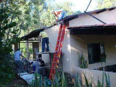 作業小屋の天井をリフォーム(2013年4月)