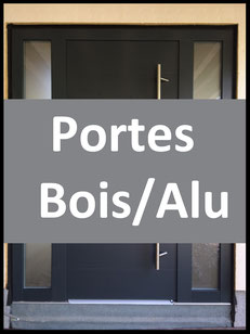 Portes en Bois/Alu, bois-alu, Remplacer ma porte d'entrée