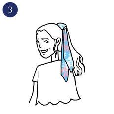 Tuto porter foulard romanesque 3
