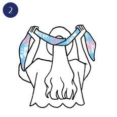 Tuto porter foulard romanesque 2