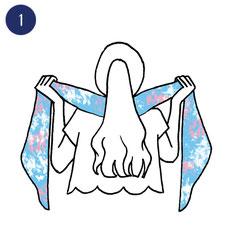 Tuto porter foulard romanesque 1