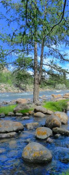 Rivière dans la vallée proche d'Uliastai